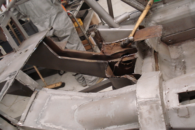 Whole sections of the chassis where removed
